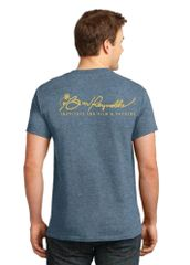 Burt Reynolds Institute Logo T-Shirt - Heather Indigo