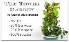 Tower Garden - Basic Unit - grow 20 plants in a 2 1/2' x 2 1/2' space!