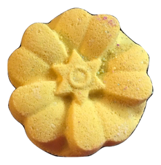 Lemon Floral Bath Fizzer with Essential Oil and Dead Sea Salt
