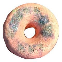 Grapefruit Donut Bath Fizzer with essential oil and sparkles