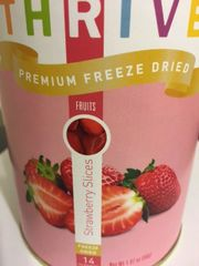Strawberry Slices - Premium Freeze Dried, Pantry Can. 14 servings. Kathi's favorite!
