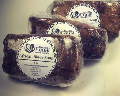 Pure African Black Soap 3 bar pack