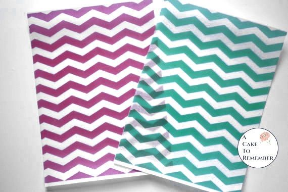 3 full sheets chevron printed wafer paper (choose one color) for cake decorating