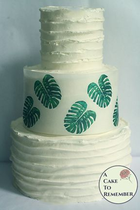 Tropical monstera leaf edible wafer paper- 3 sheets