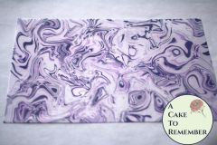 Purple, violet, white and grey marbled edible wafer paper- 3 sheets