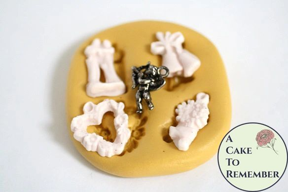 Tiny wedding charms silicone mold M5118