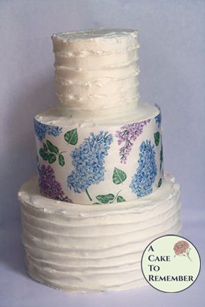 Lilacs printed wafer paper- 3 edible sheets for cake decorating