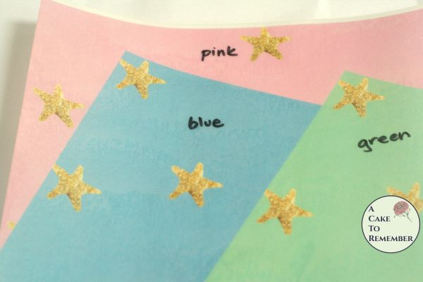 3 full sheets starfish printed wafer paper for cake decorating.