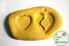 Hearts silicone mold for cake decorating M029