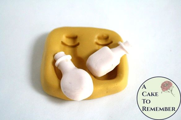 Little bottles silicone mold clay craft supplies M5114