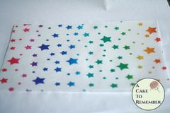 Rainbow stars edible wafer paper- 3 sheets