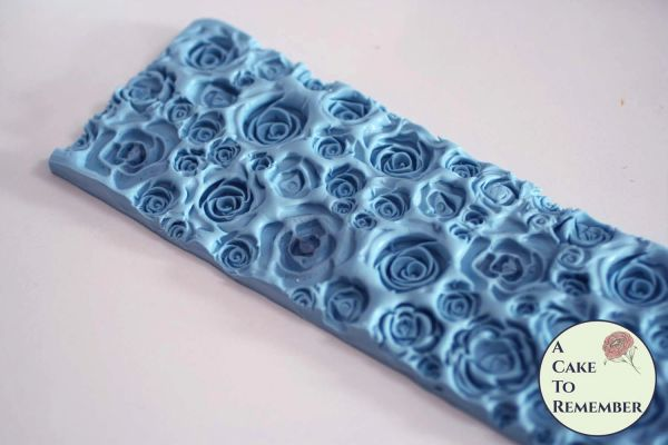 Roses texture mat for soapmaking or for fondant borders