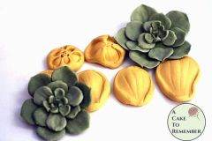 Succulent silicone mold veiner for cake decorating