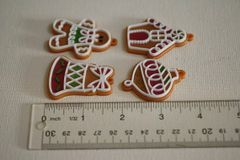 Christmas ornament mold set for cake decorating, cupcake decorating, chocolate, polymer clay, gumpaste, rustic cakes, M5054