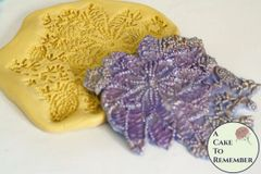 Silicone seed bead floral and sequins elegant lace mold M5092
