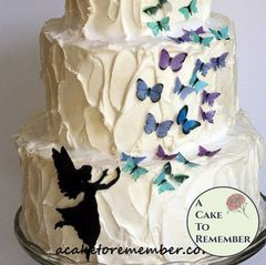 Fairy and butterflies edible wafer butterflies set for cake decorating and birthday cakes