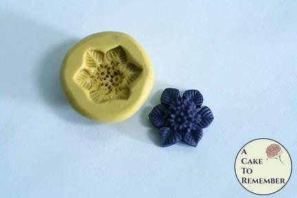 "3/4"" floral cabochon flexible silicone mold M5209"