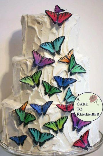 20 edible wafer butterflies, tiger swallowtails