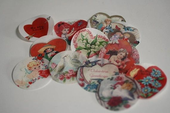 Heart Shaped Wafer Paper Valentine's Day Images For Cookies