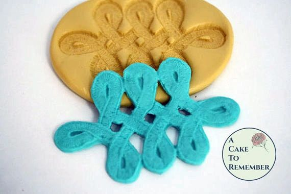 Celtic knot silicone mold for polymer clay or cakes