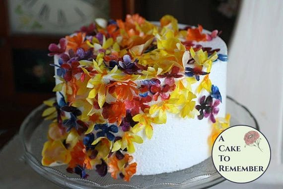 wedding cake edible decorations 50 wafer paper flowers and leaves for cake decorating and 8636