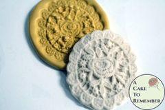 Oval lace mold medallion, wedding cake lace mold M058