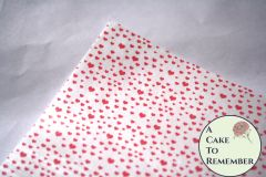 Tiny red hearts edible wafer paper- 3 sheets
