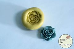 Little rose miniature food grade silicone rubber mold M5214