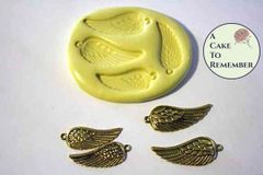 Little wings silicone mold for soap embeds M1082