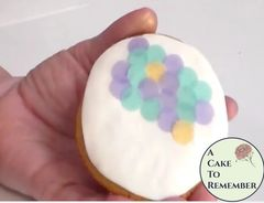 """320 Wafer paper dots for mermaid cookies, 1/2"""" dots."""