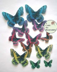 Rainbow cake toppers or cupcake topper edible butterflies