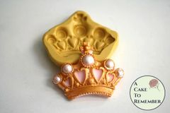 Silicone crown mold for fondant M5047
