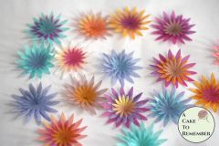 12 layered wafer paper edible flowers for cupcake toppers