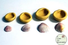 Set of 4 clamshell molds for cake decorating or polymer clay M35