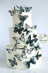 20 matte black and white cupcake toppers or cake toppers.