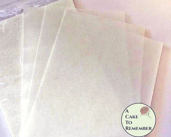 Plain wafer paper for cake decorating, 25 sheets