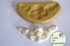 Small cherub swag silicone mold for cake decorating or polymer clay M5031