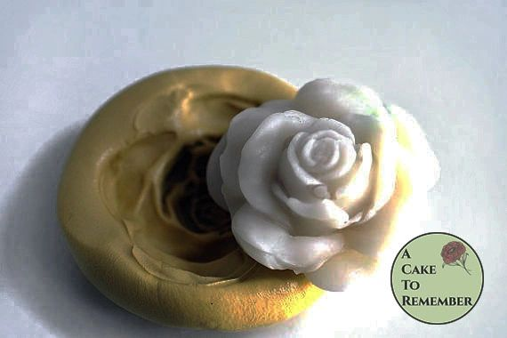 Silicone rose mold for large gumpaste roses cupcake toppers M036