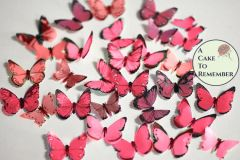 48 small red edible butterflies for baking and cakes