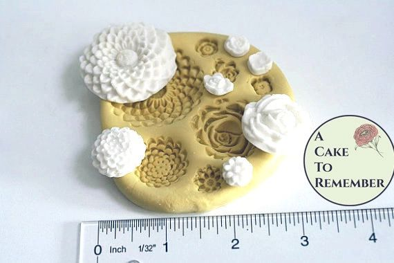 Silicone flower molds. multicavity set M044