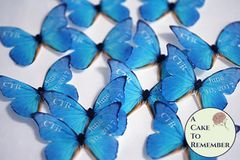 12 personalized wafer paper edible butterflies