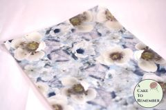Winter flowers edible wafer paper- 3 sheets