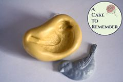 Silicone bird mold for fondant cupcake toppers M5076