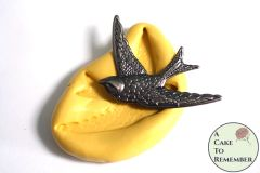 Flying bird mold for fondant or gumpaste. M5172
