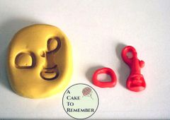 Purse clasp mold, hook and loop clasp mold M06