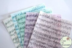 Music notes custom color edible wafer paper for cake decorating