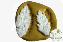 Pointed acanthus leaf scroll flexible silicone mold set M5041