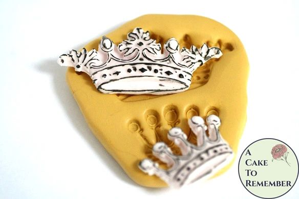 Ornate crowns silicone resin casting mold M5120