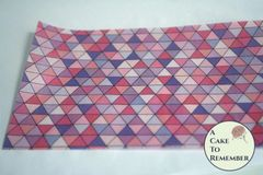 Pink and purple triangles edible wafer paper- 3 sheets