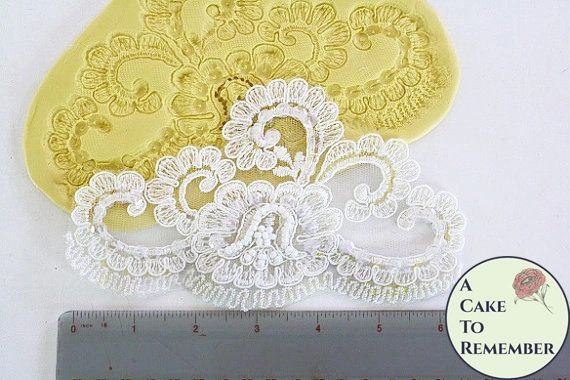 Large fondant lace silicone mold for cake decorating. M1013